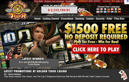 Golden Tiger Casino Screenshot